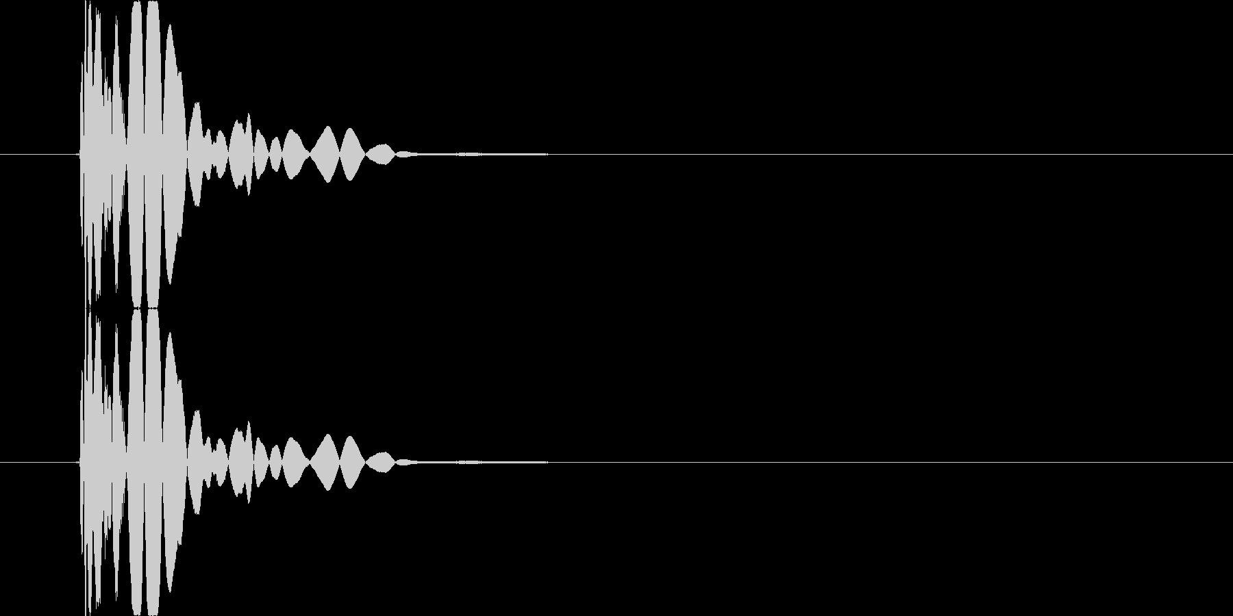 【SE】打撃音(パンチ03)の未再生の波形