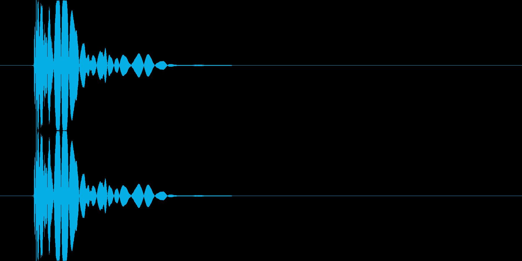 【SE】打撃音(パンチ03)の再生済みの波形