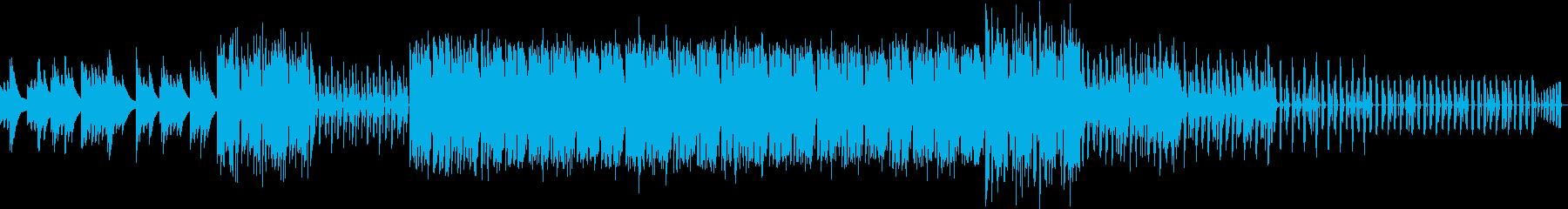 スポーツ系のラジオ用BGMの再生済みの波形