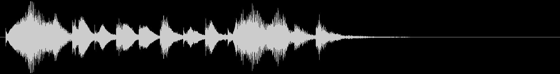 のほほんジングル025_キュート-3の未再生の波形