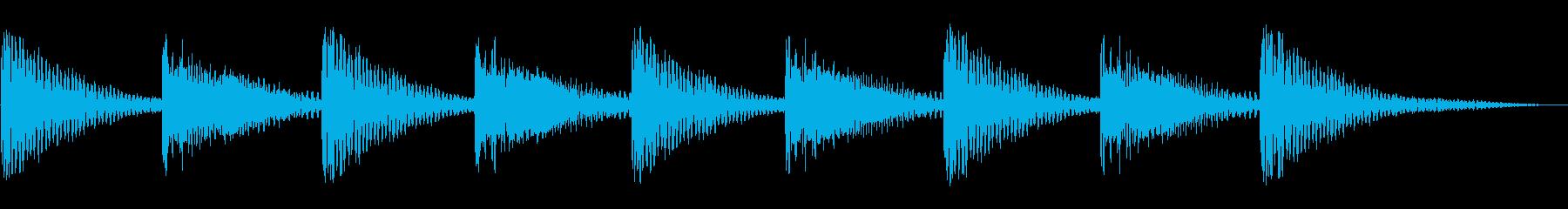 ティンパニ3スローエンディングの再生済みの波形