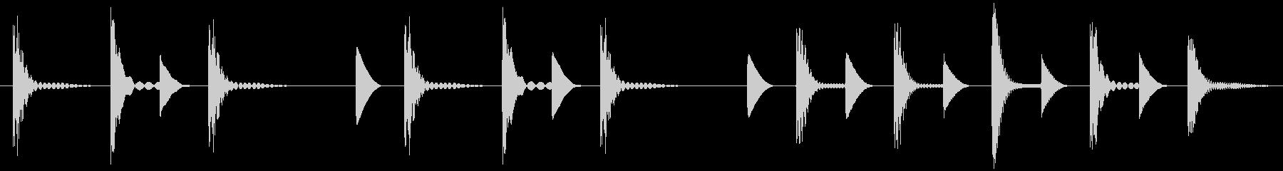 ほのぼの ピコピコ アイキャッチの未再生の波形
