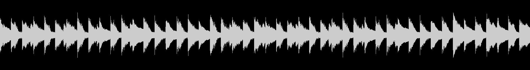 ピアノの旋律が印象的なワルツ調の未再生の波形