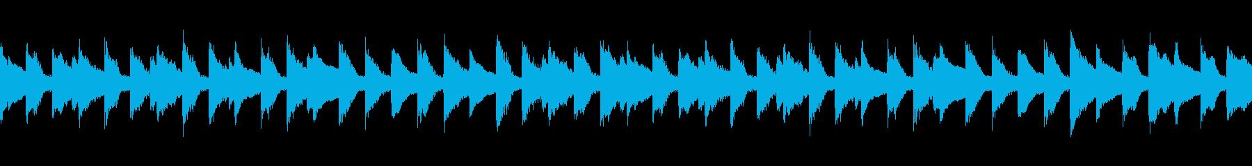 ピアノの旋律が印象的なワルツ調の再生済みの波形