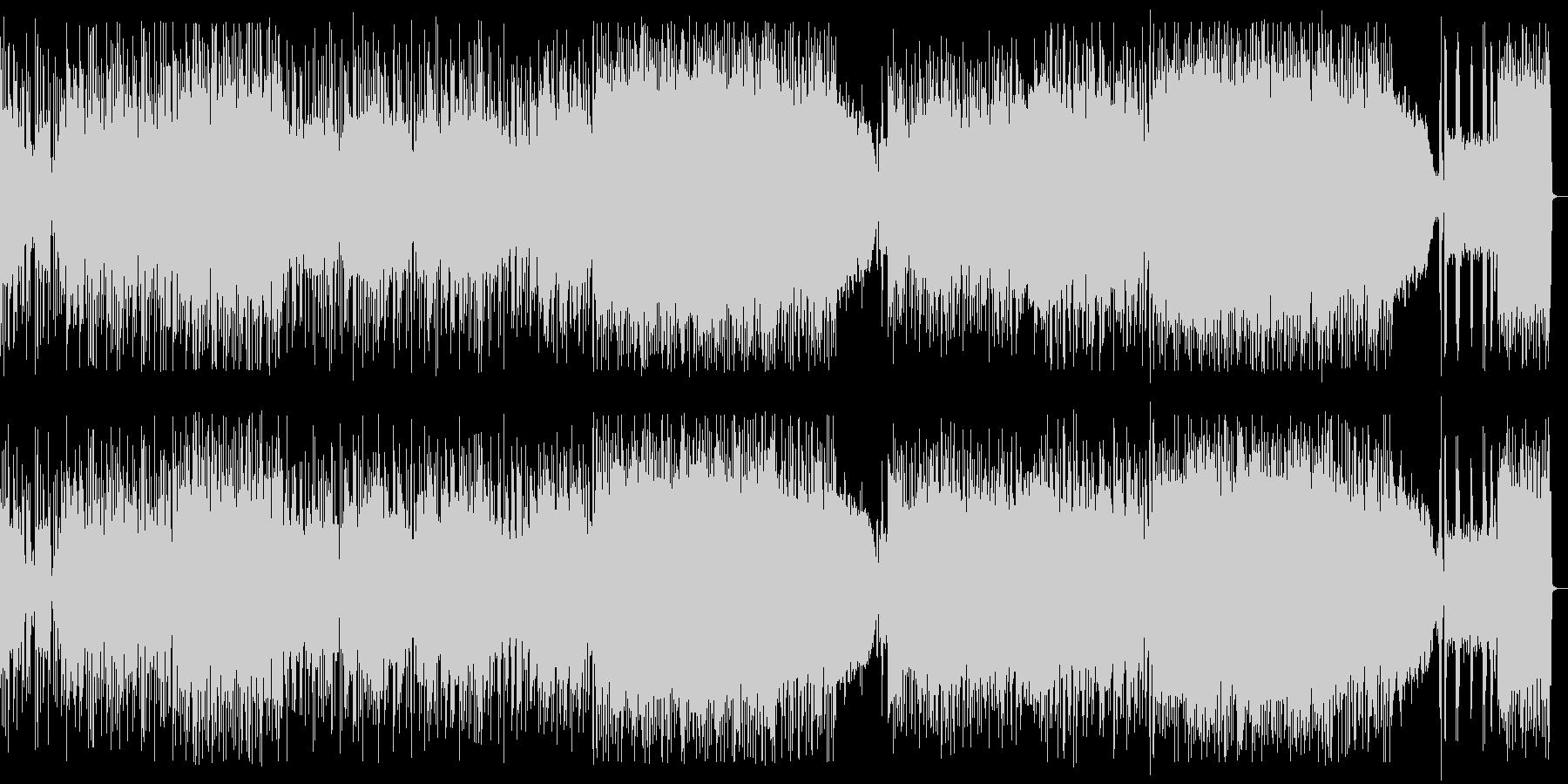 ファンク、ラウドロック、カッコいいリフの未再生の波形