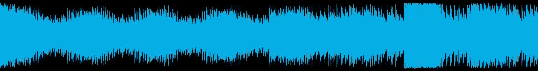ちょっと緊張感のある幻想的なループ音楽の再生済みの波形