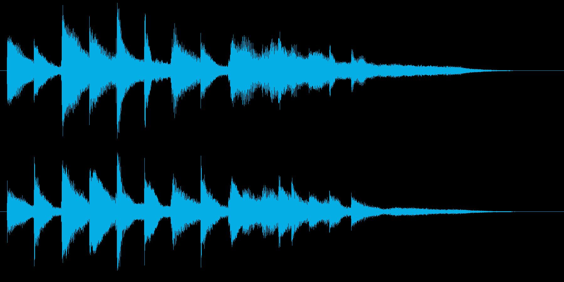 悲しい ピアノのジングルの再生済みの波形