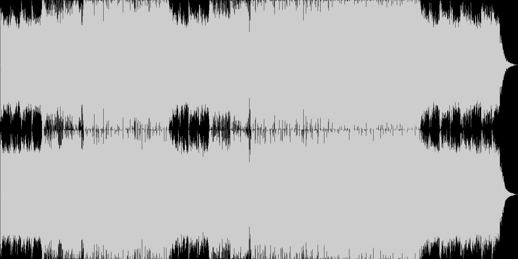 透明感のあるフューチャーベースの未再生の波形