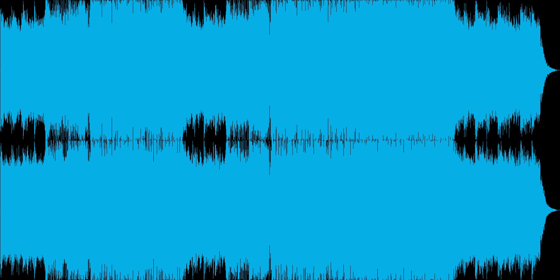透明感のあるフューチャーベースの再生済みの波形