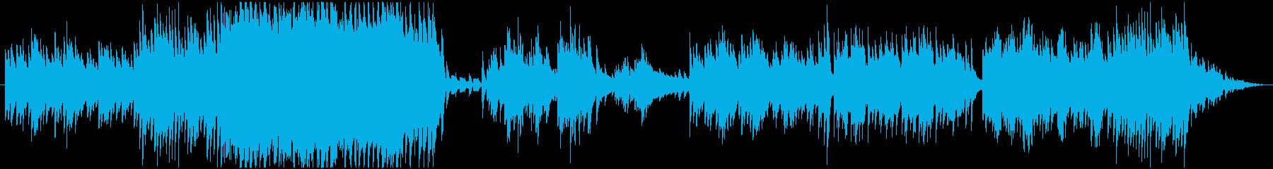 神秘な雰囲気のBGMの再生済みの波形