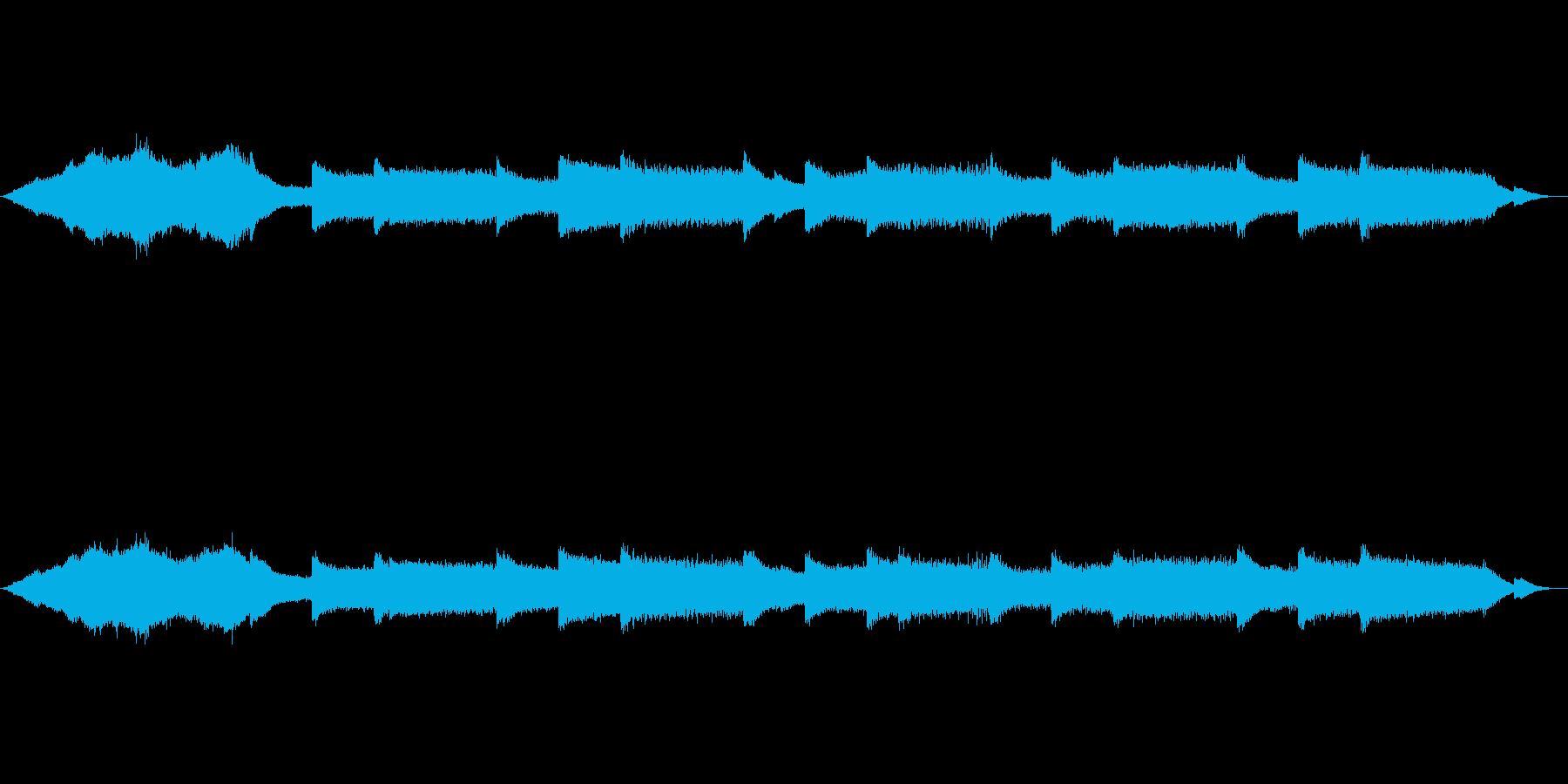 宇宙と交信するようなシンセの音響音楽の再生済みの波形
