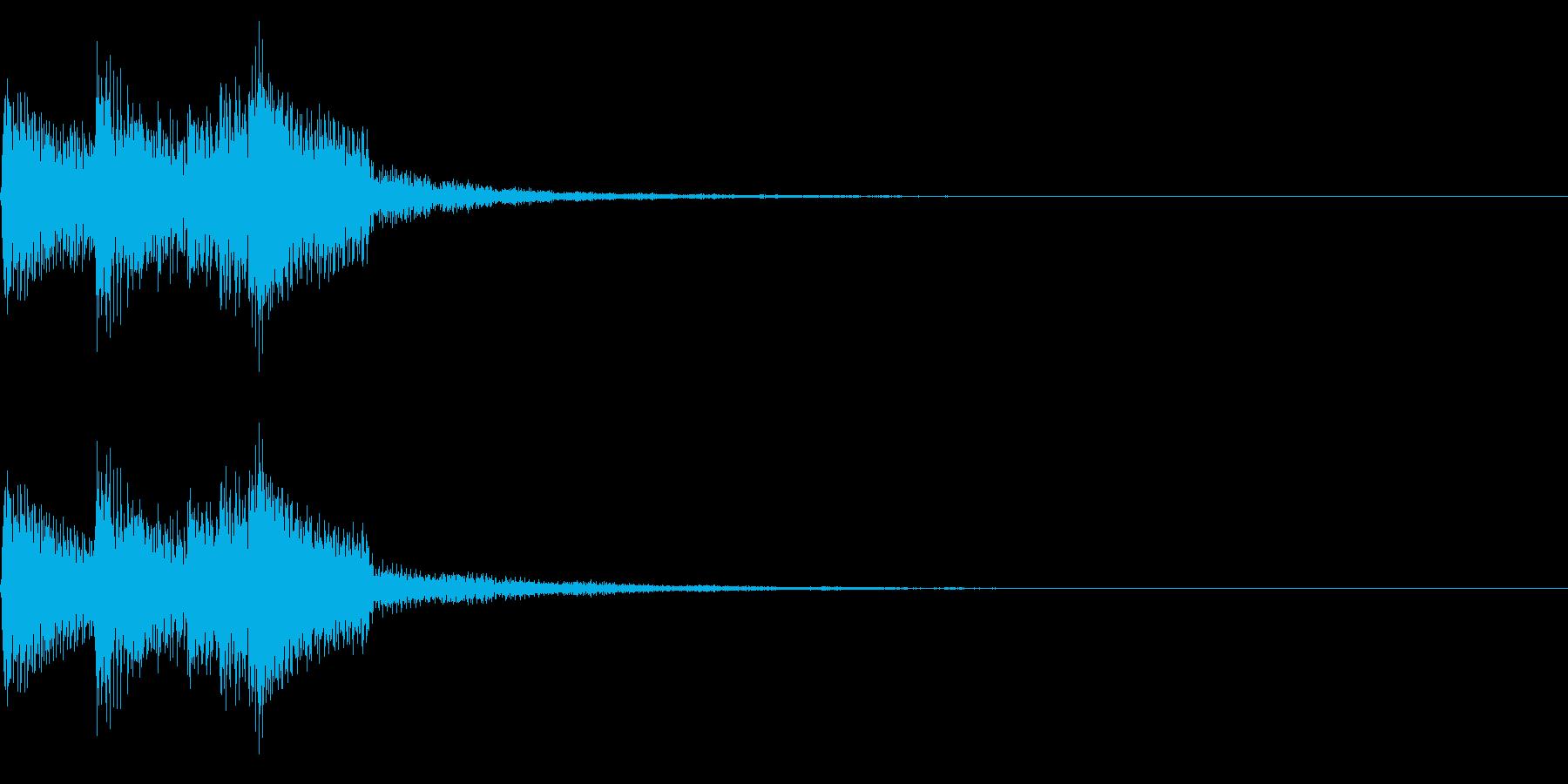 チャララン(回復クリア/ファミコン/魔法の再生済みの波形