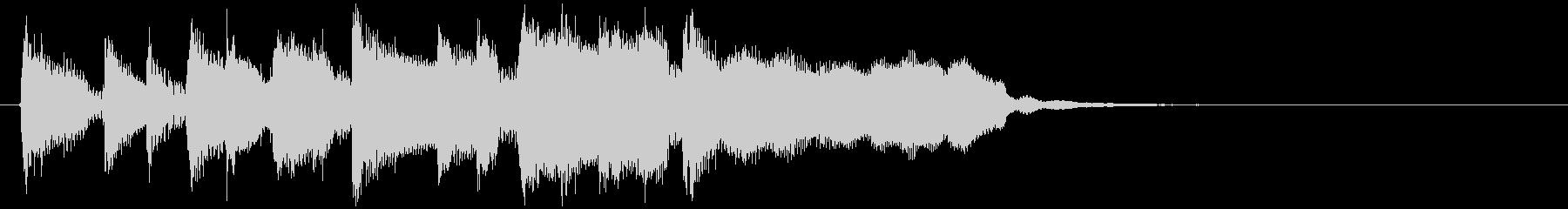 リコーダー&ピアノの軽快なサウンドロゴの未再生の波形