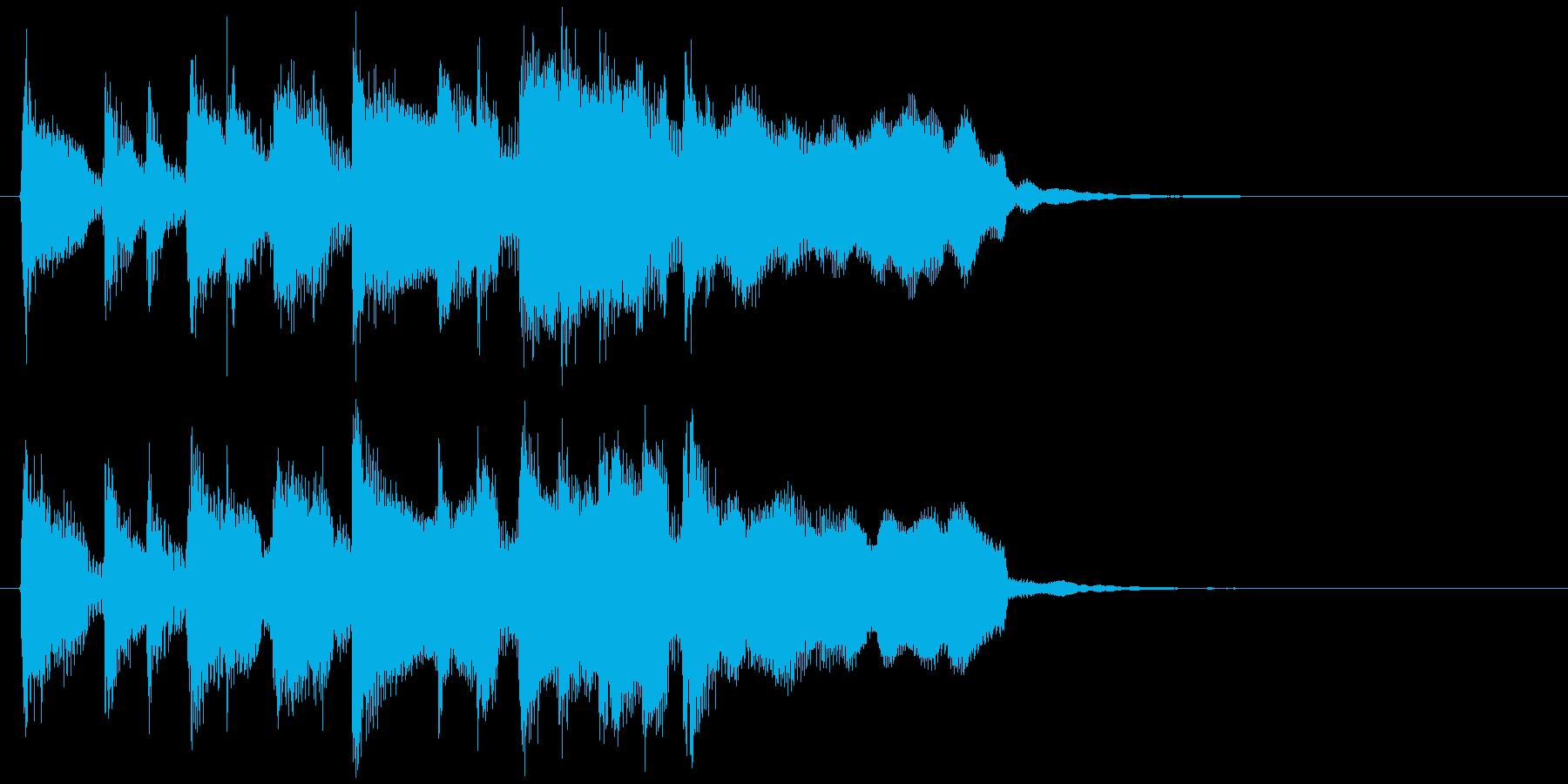 リコーダー&ピアノの軽快なサウンドロゴの再生済みの波形