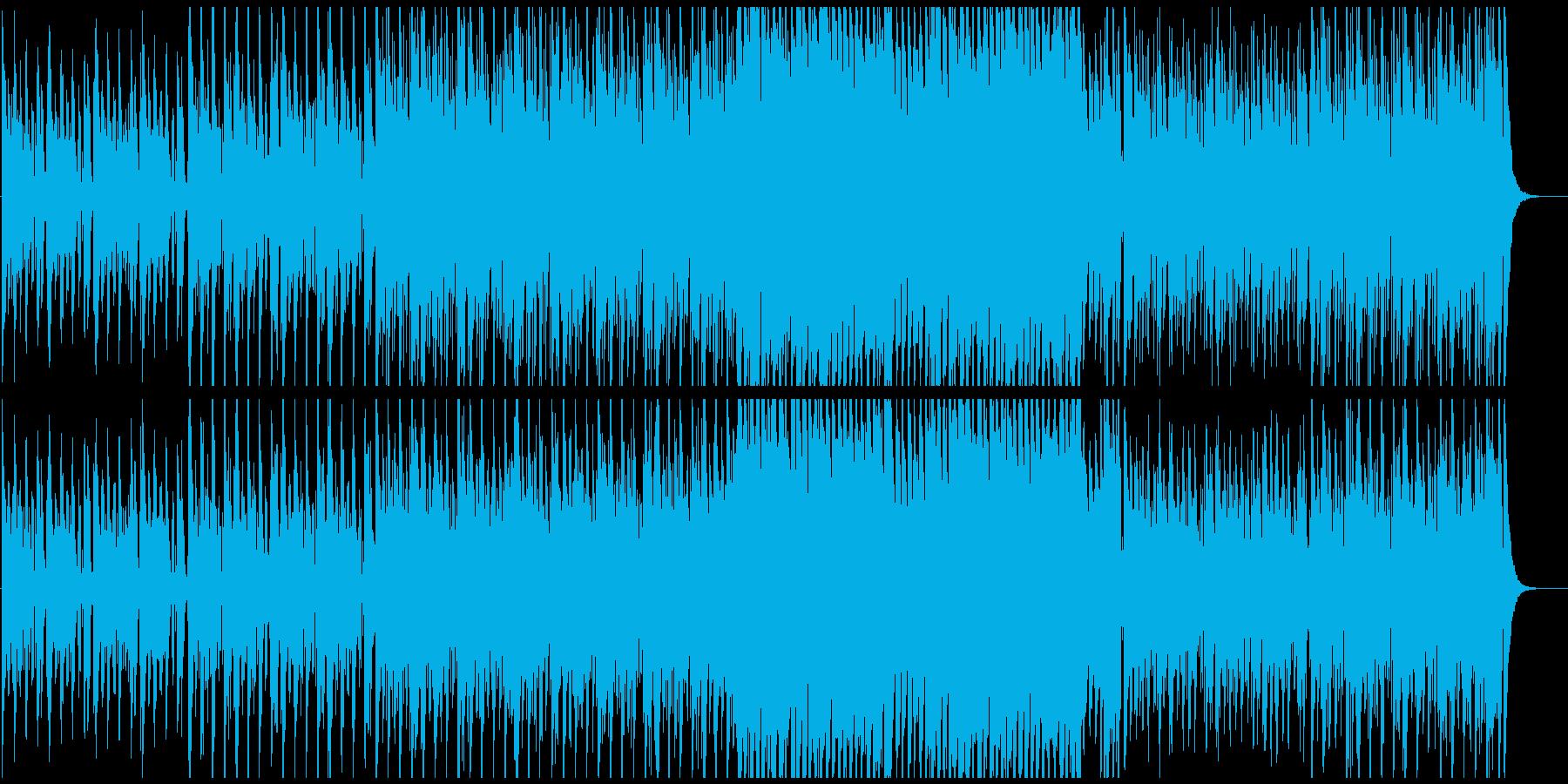 いろいろな音色を混ぜた和風お祭りモダンの再生済みの波形