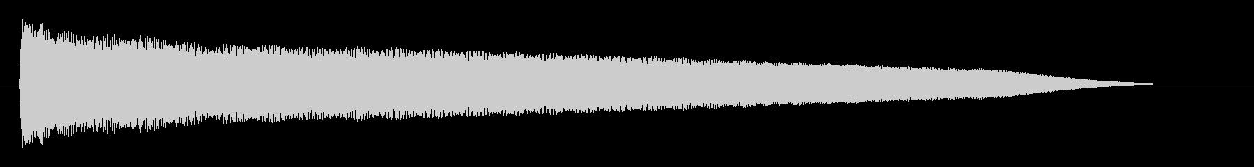 チューン(高音で響く音)の未再生の波形