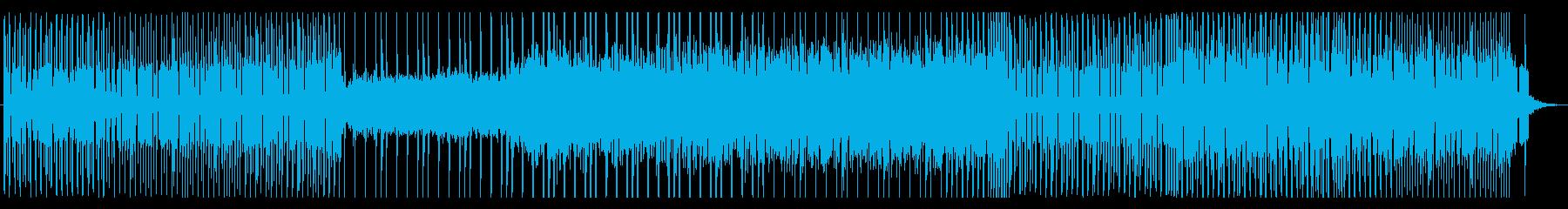 対戦コンテンツ用のヘヴィ・テクノの再生済みの波形