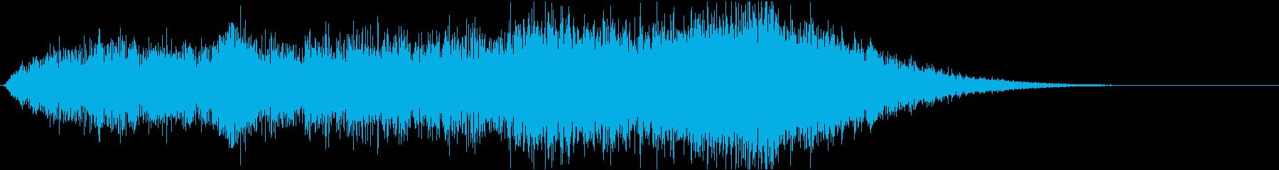 ホラー系効果音17の再生済みの波形