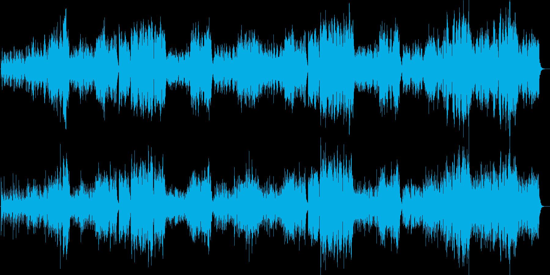 中世のワルツ風オーケストラの再生済みの波形