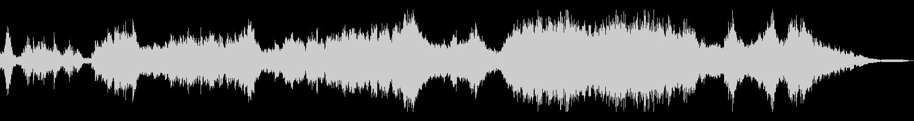 迫り来る狂気/荒々しい和風曲16-ピアノの未再生の波形