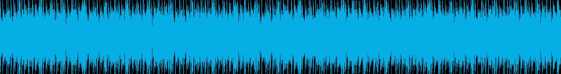 キャンプ・アウトドアなBGM_ループの再生済みの波形