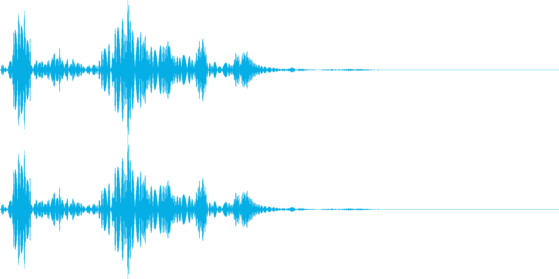 ビュルル(マイナスイメージ_毒)の再生済みの波形