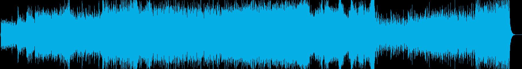 ダークでかっこいい壮大なBGMの再生済みの波形