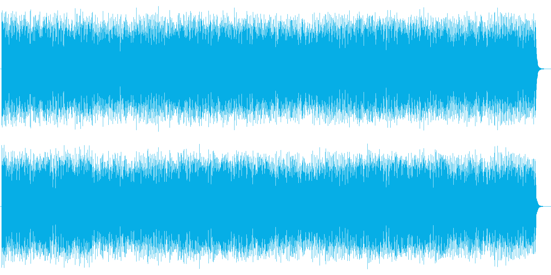 リズミカルで体を動かしたくなるポップスの再生済みの波形