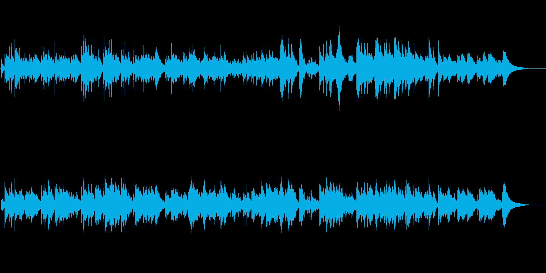 【ロング版】寂しい雰囲気のオルゴールの再生済みの波形