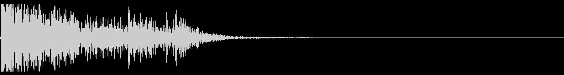 【生録音】ブリキのバケツの音 学校 3の未再生の波形
