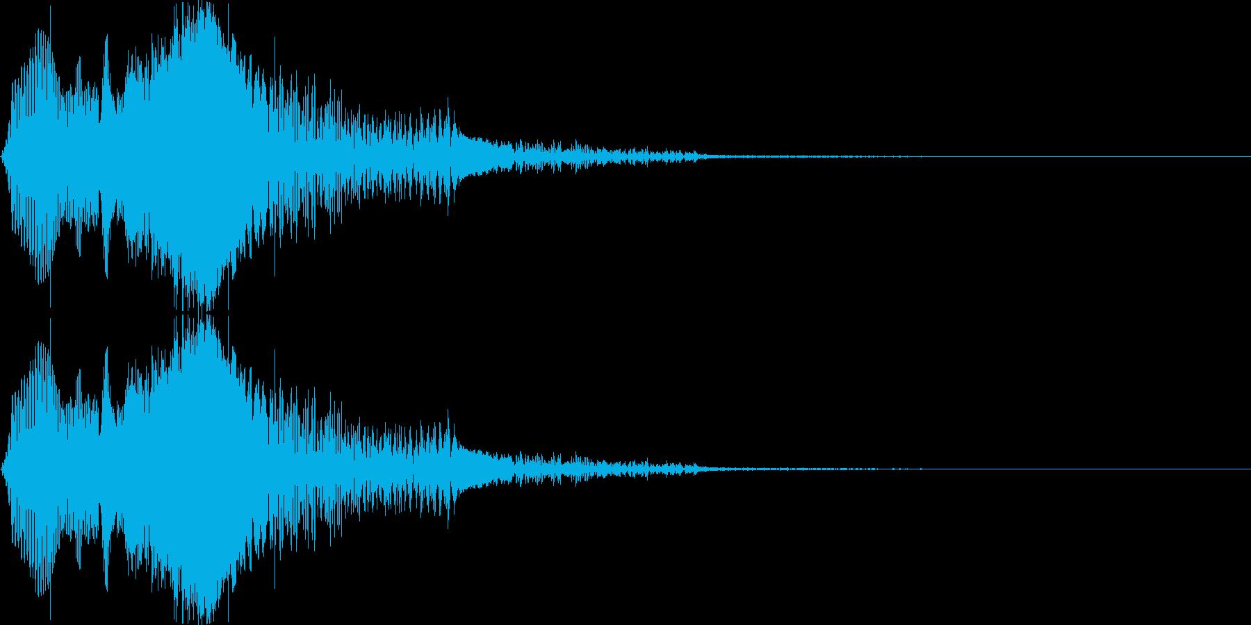 飛び跳ねるイメージの擬音です。の再生済みの波形