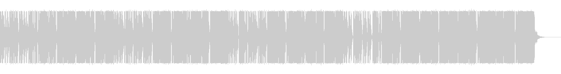 ミディアムテンポのファンクの未再生の波形