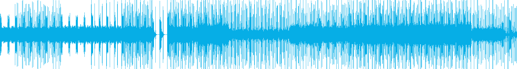 穏やかでクリック音が特徴的なニカの再生済みの波形