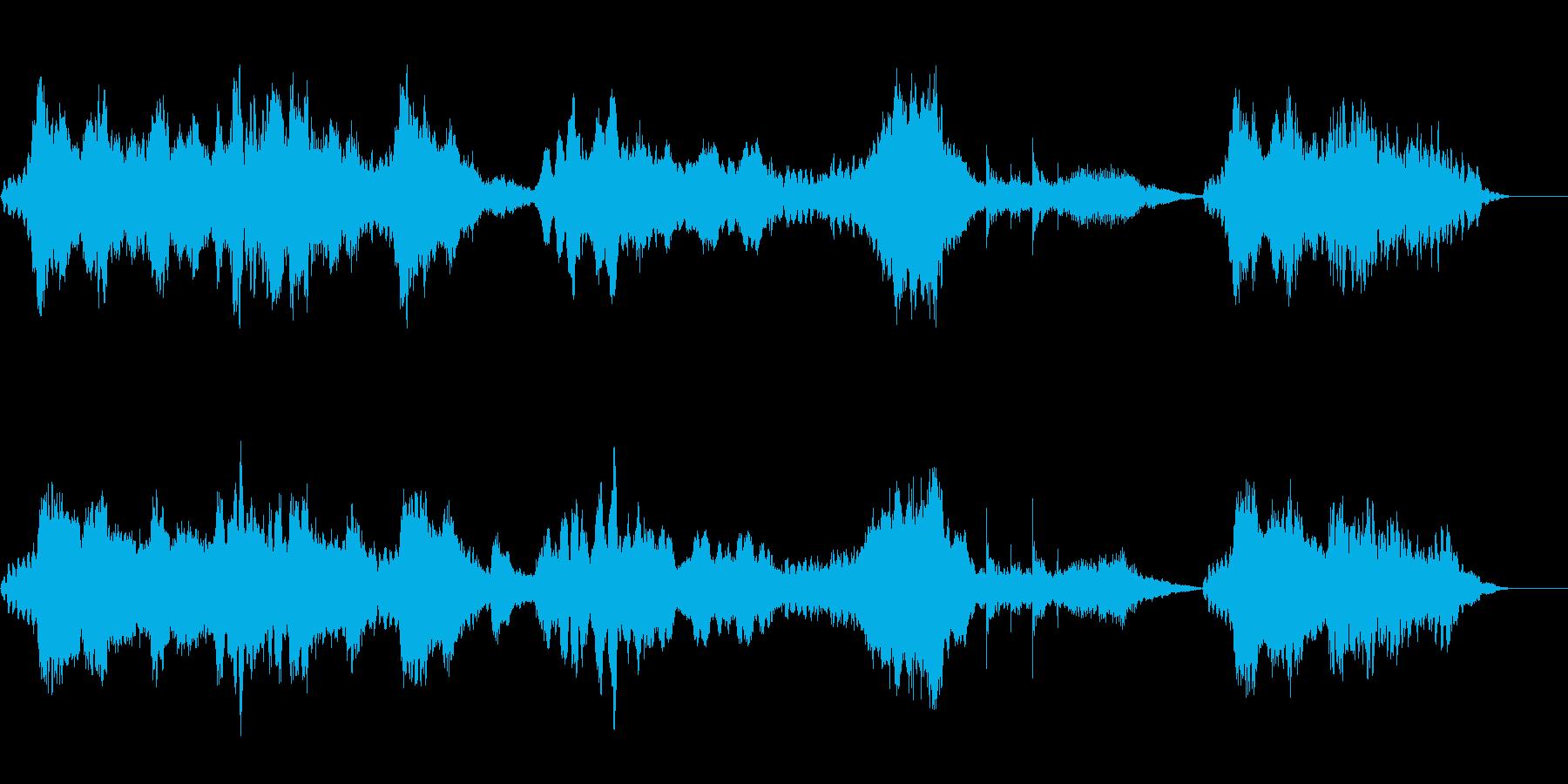 ホラー・サスペンス系軋み効果音3の再生済みの波形