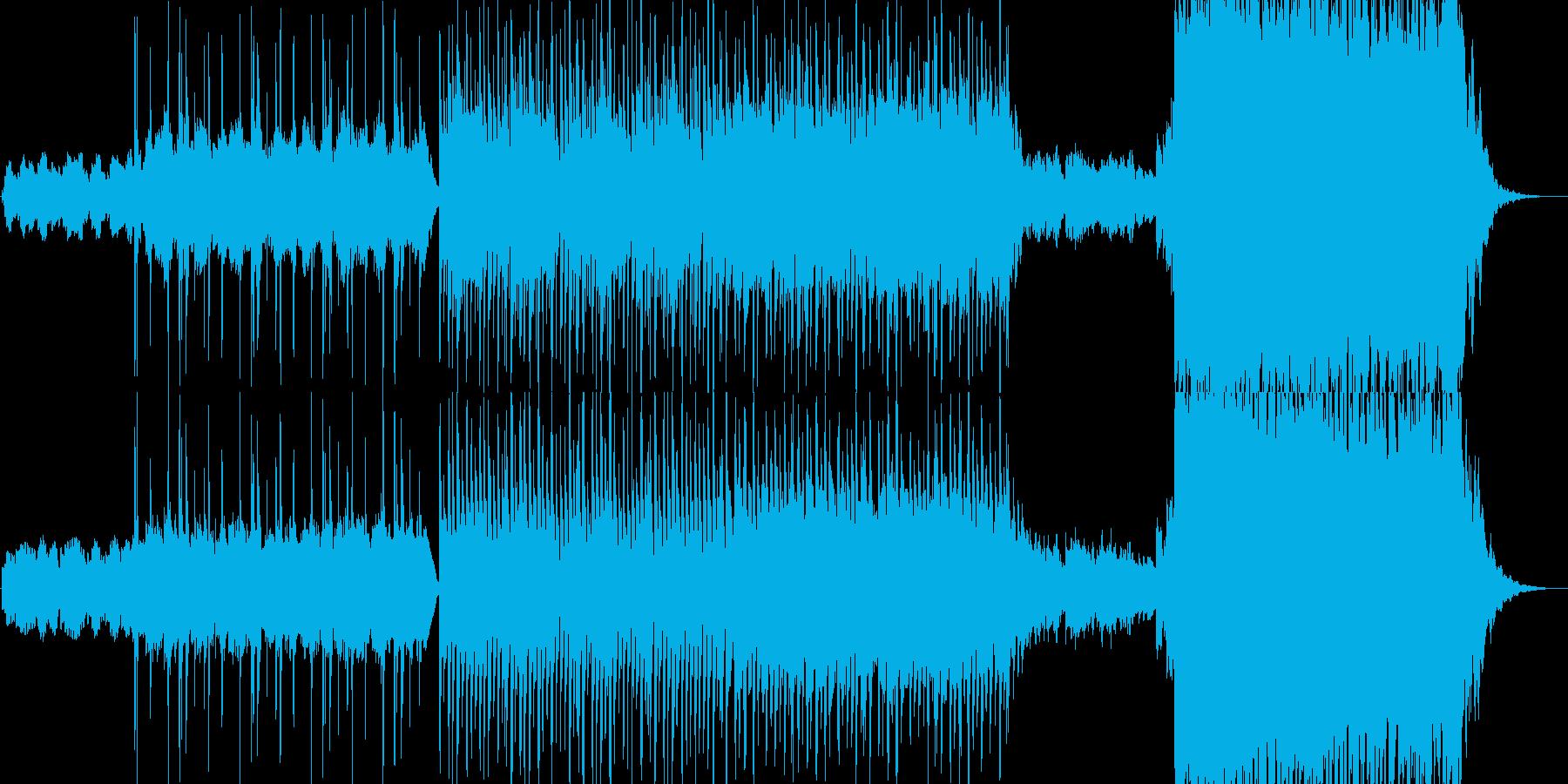 映像向け近未来的、クールなシンセチューンの再生済みの波形