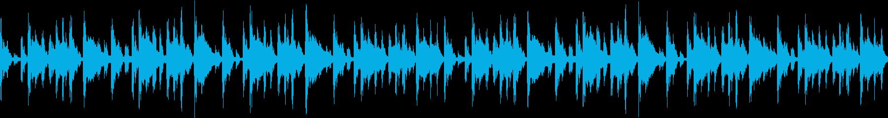 チル系エレクトロBGMの再生済みの波形