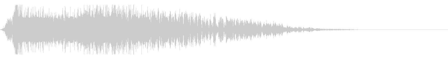 ドコォ!アニメ風のインパクト音の未再生の波形