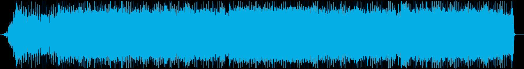 疾走感溢れるロックギターインストの再生済みの波形