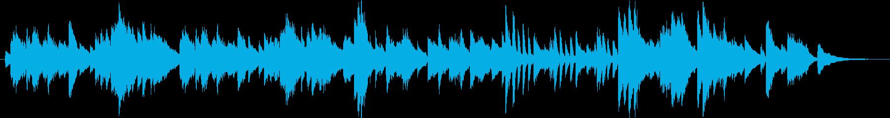 広告ライクでクラシカルなシンプルピアノ曲の再生済みの波形