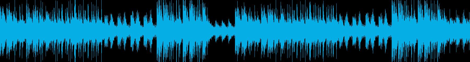 琴、ピアノで優しく静かな和風ループ の再生済みの波形