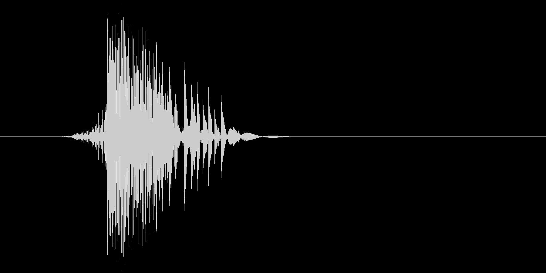 ゲーム(ファミコン風)ヒット音_005の未再生の波形