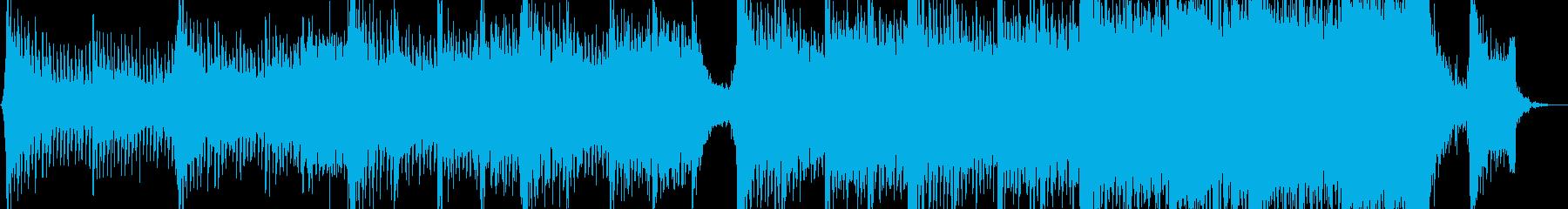 ハイブリッド映画トレーラーの再生済みの波形