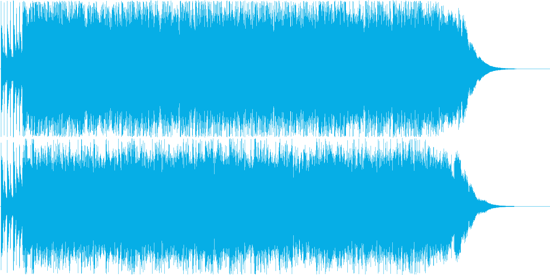 疾走感のあるパンクサウンド#01の再生済みの波形