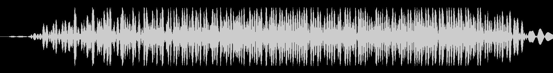 大きなクリーチャー:短い低うなり声の未再生の波形