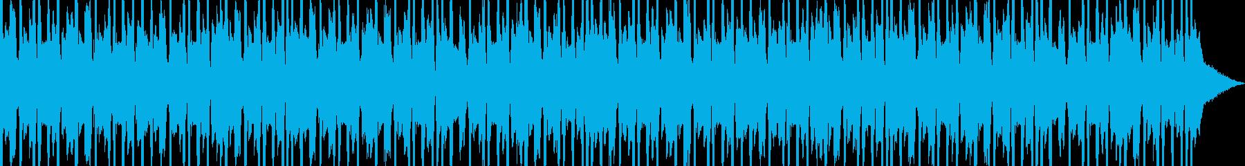レトロで奇妙な雰囲気のテクノBGMの再生済みの波形