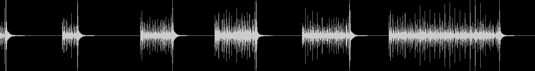 ドラム、スネア、ロール、ブラシ、6...の未再生の波形