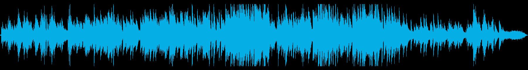 海とピアノ ゆるやかなボサノバの再生済みの波形