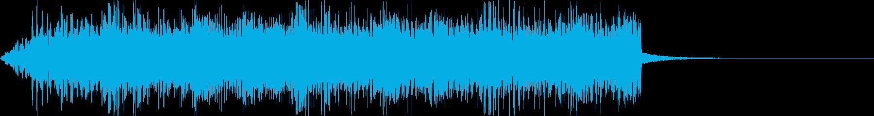 【ハロウィン】コウモリの群れの鳴き声の再生済みの波形
