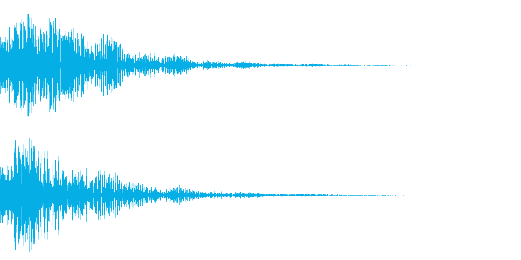 ドドン!(迫力ある太鼓と鼓の効果音)01の再生済みの波形