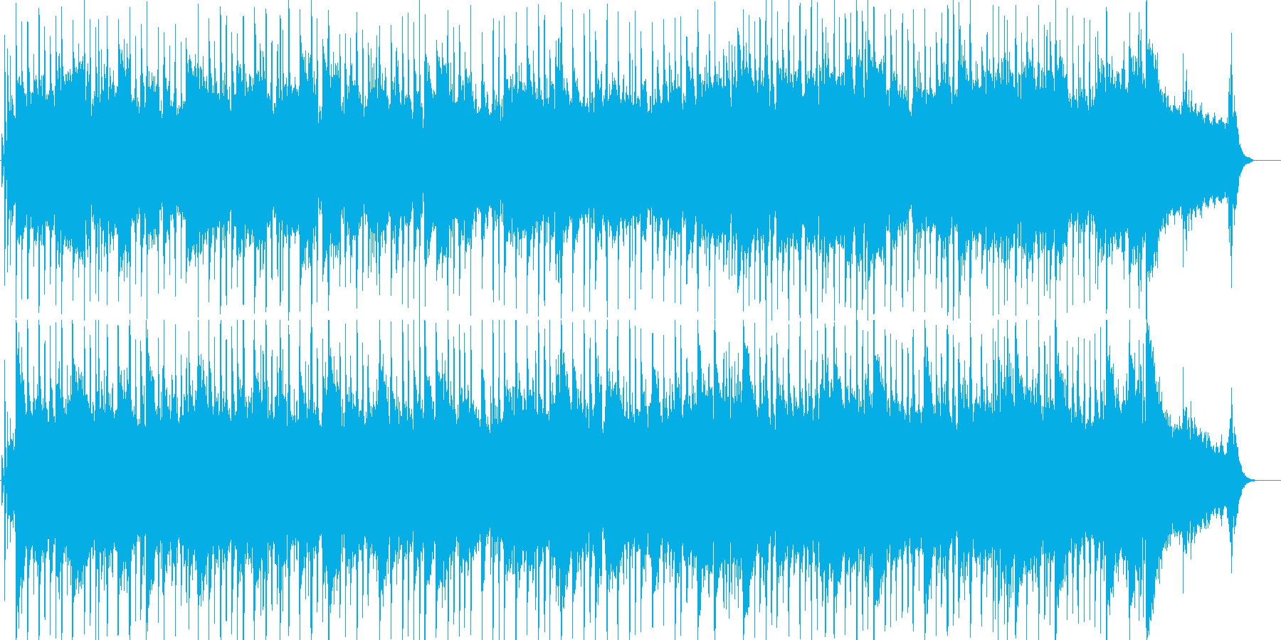 ギターメインのほのぼのとしたポップスの再生済みの波形